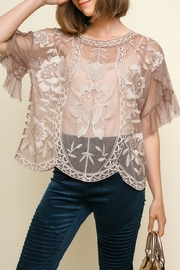 Umgee Embroidered Lace Top - Product Mini Image