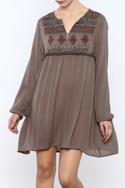Shoptiques Product: Embroidered Mocha Tunic
