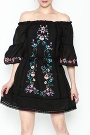 Umgee USA Embroidered Peasant Dress - Front cropped