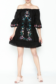 Umgee USA Embroidered Peasant Dress - Side cropped