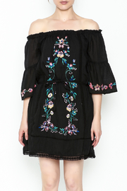Umgee USA Embroidered Peasant Dress - Front full body