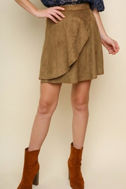 Umgee Faux-Suede Wrap Skirt - Product Mini Image