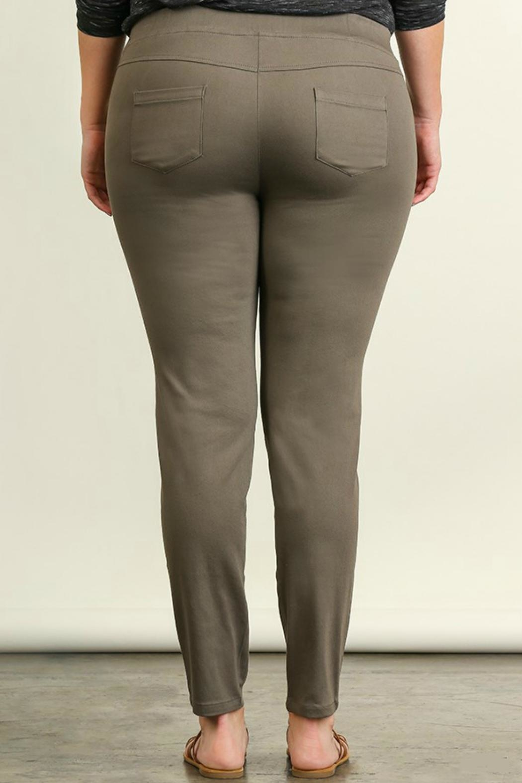 Umgee USA Favorite Olive Leggings - Front Full Image