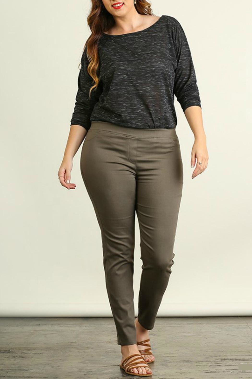 Umgee USA Favorite Olive Leggings - Front Cropped Image
