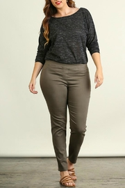 Umgee USA Favorite Olive Leggings - Front cropped