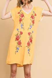 Umgee Floral Embroidered Dress - Side cropped