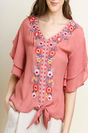 Umgee Floral Embroidered Top - Product Mini Image