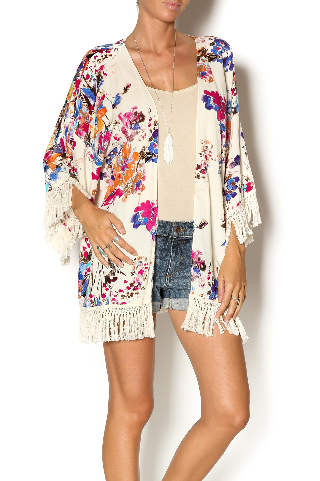 Umgee USA Floral Fringe Kimono from Colorado by Simply Dena ...
