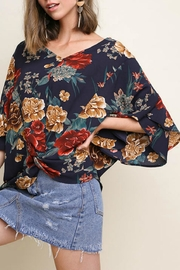Umgee Floral Knot Top - Product Mini Image