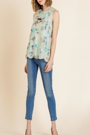 Umgee Floral-Print Eyelet Top - Product Mini Image