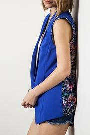 Umgee USA Floral Sleeveless Blazer - Side cropped