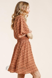 Umgee Floral Smocked Dress - Front full body