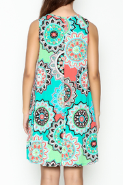 Umgee USA Floral Tunic Dress - Back cropped