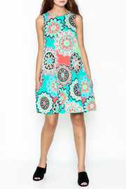 Umgee USA Floral Tunic Dress - Side cropped