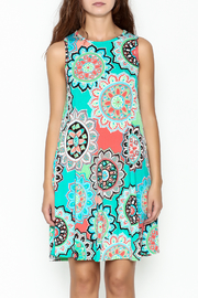 Umgee USA Floral Tunic Dress - Front full body