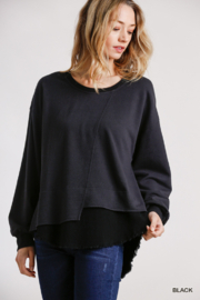 umgee  Umgee French Terry Top - Product Mini Image
