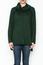 Umgee USA Fringe Bottom Cowl Top - Front full body