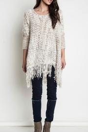 Umgee USA Fringe Knit Sweater - Product Mini Image