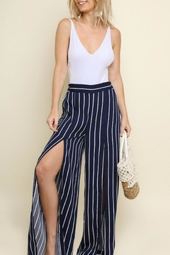 Umgee Front-Slit Wide-Leg Pants - Product List Image