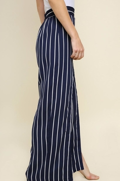 Umgee Front-Slit Wide-Leg Pants - Alternate List Image