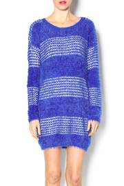Umgee USA Fuzzy Stripped Sweater Dress - Product Mini Image