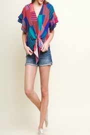 Umgee Geometric Mixed-Print Top - Product Mini Image