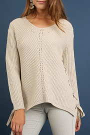 Umgee USA Grommet Lace Sweater - Product Mini Image