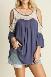 Umgee USA Lace Cold Shoulder Top - Product Mini Image