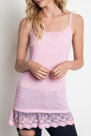 Umgee USA Lace Trim Cami - Front cropped