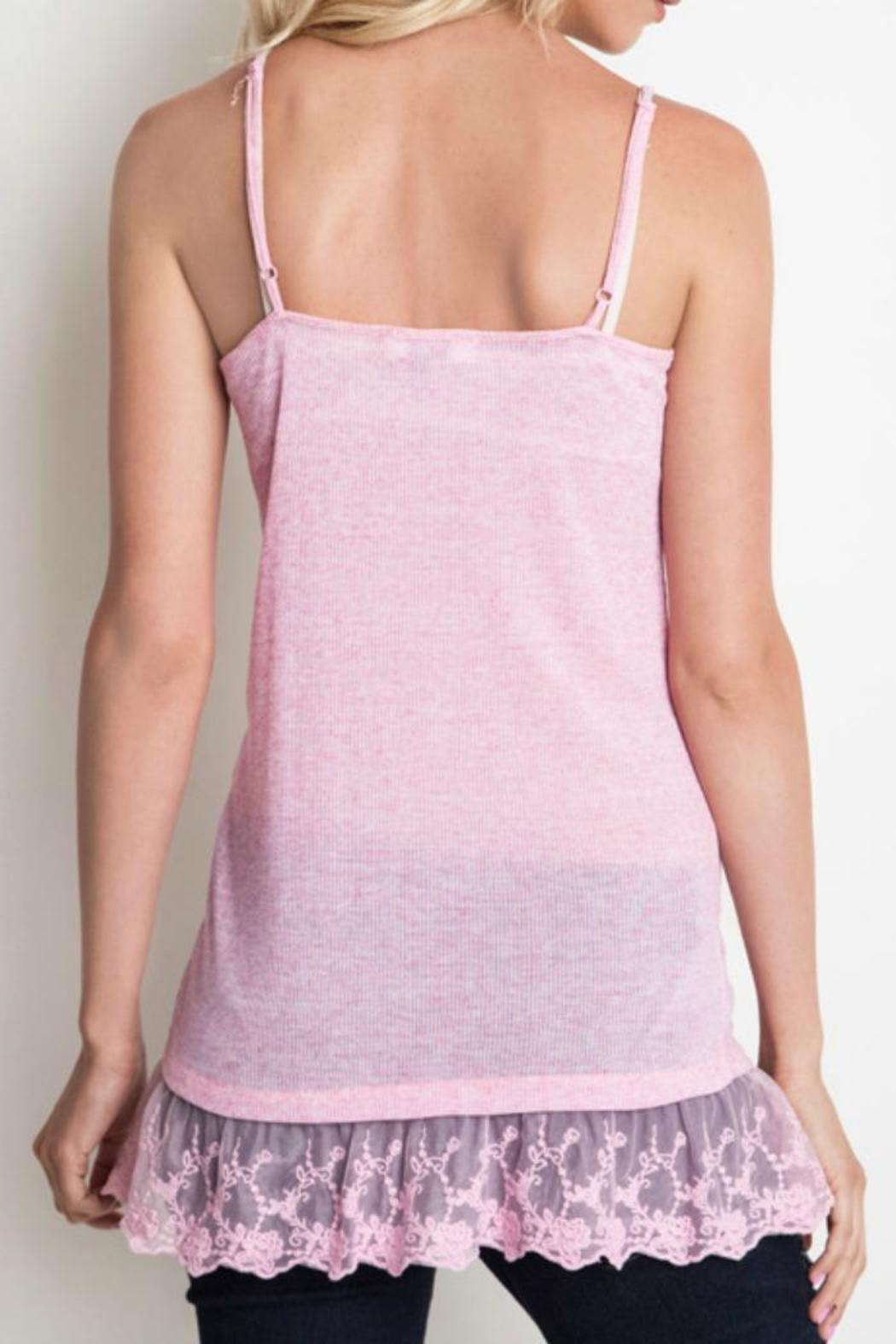 Umgee USA Lace Trim Cami - Front Full Image