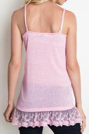 Umgee USA Lace Trim Cami - Front full body
