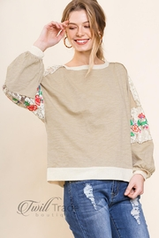 Umgee Latte Floral Top - Product Mini Image