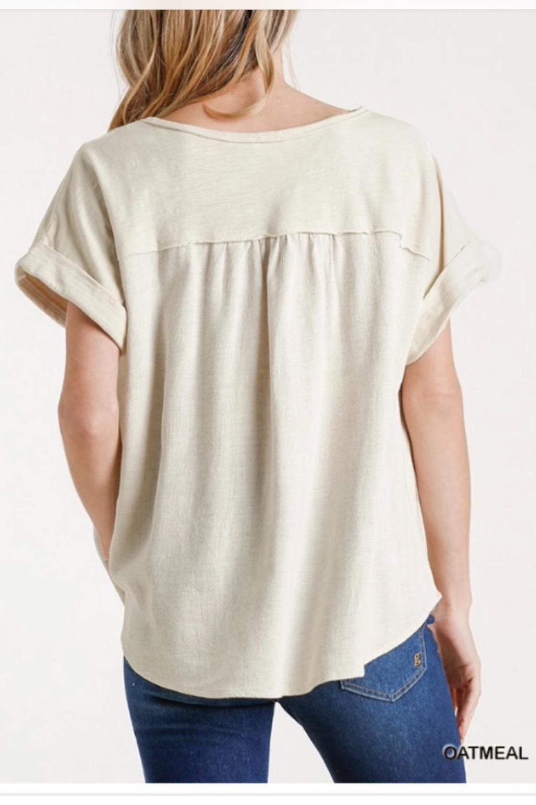 Umgee Linen Pullover - Front Full Image