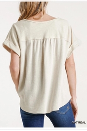 Umgee Linen Pullover - Front full body