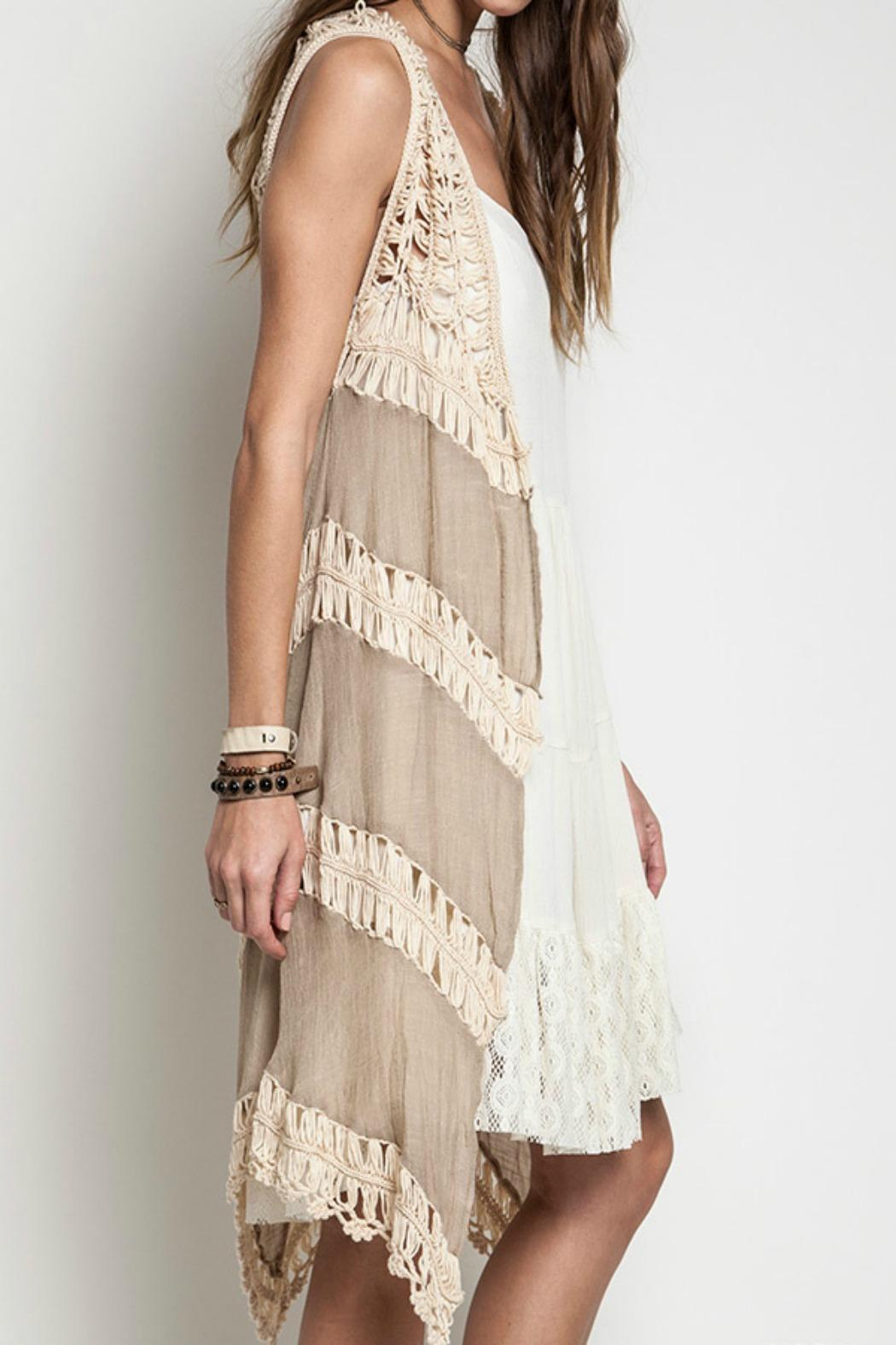 Umgee Usa Long Crochet Vest From Missouri By Front Porch Boutique