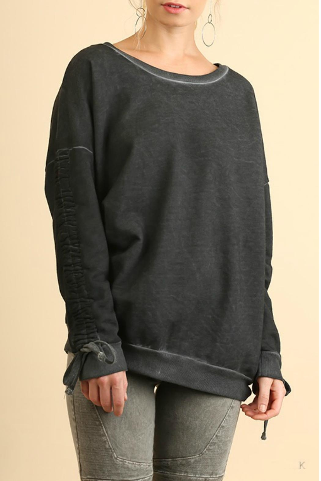 Umgee USA Mineral Washed Crewneck Sweater - Main Image