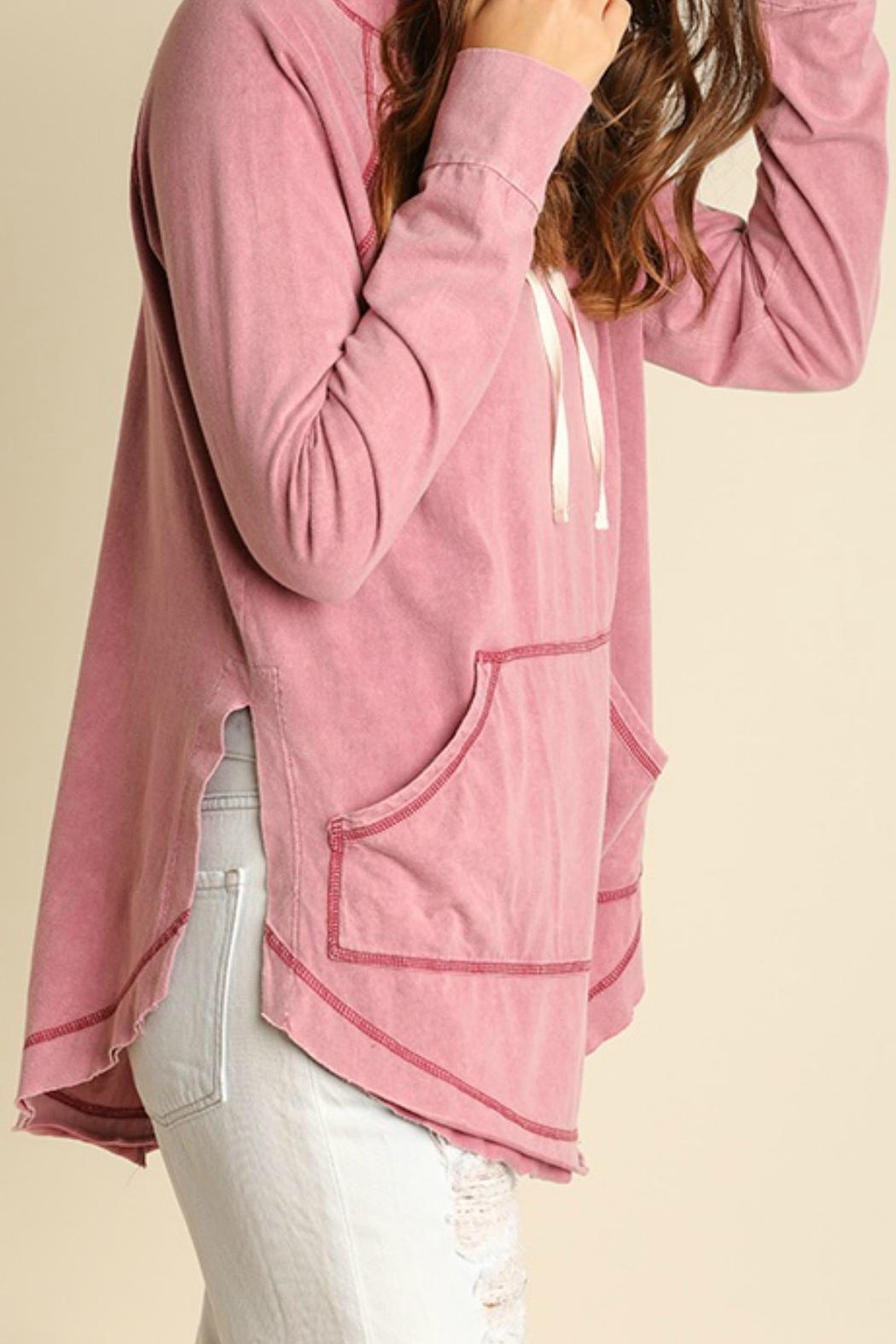 Umgee USA Mineral Washed Hoodie - Side Cropped Image
