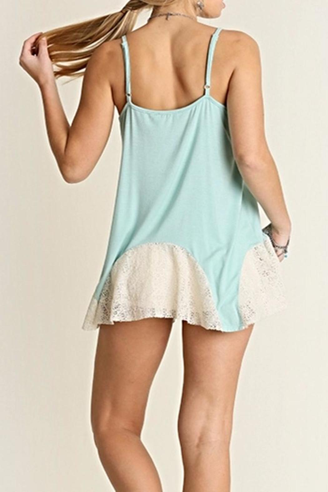 Umgee USA Mint Lace Tank - Front Full Image