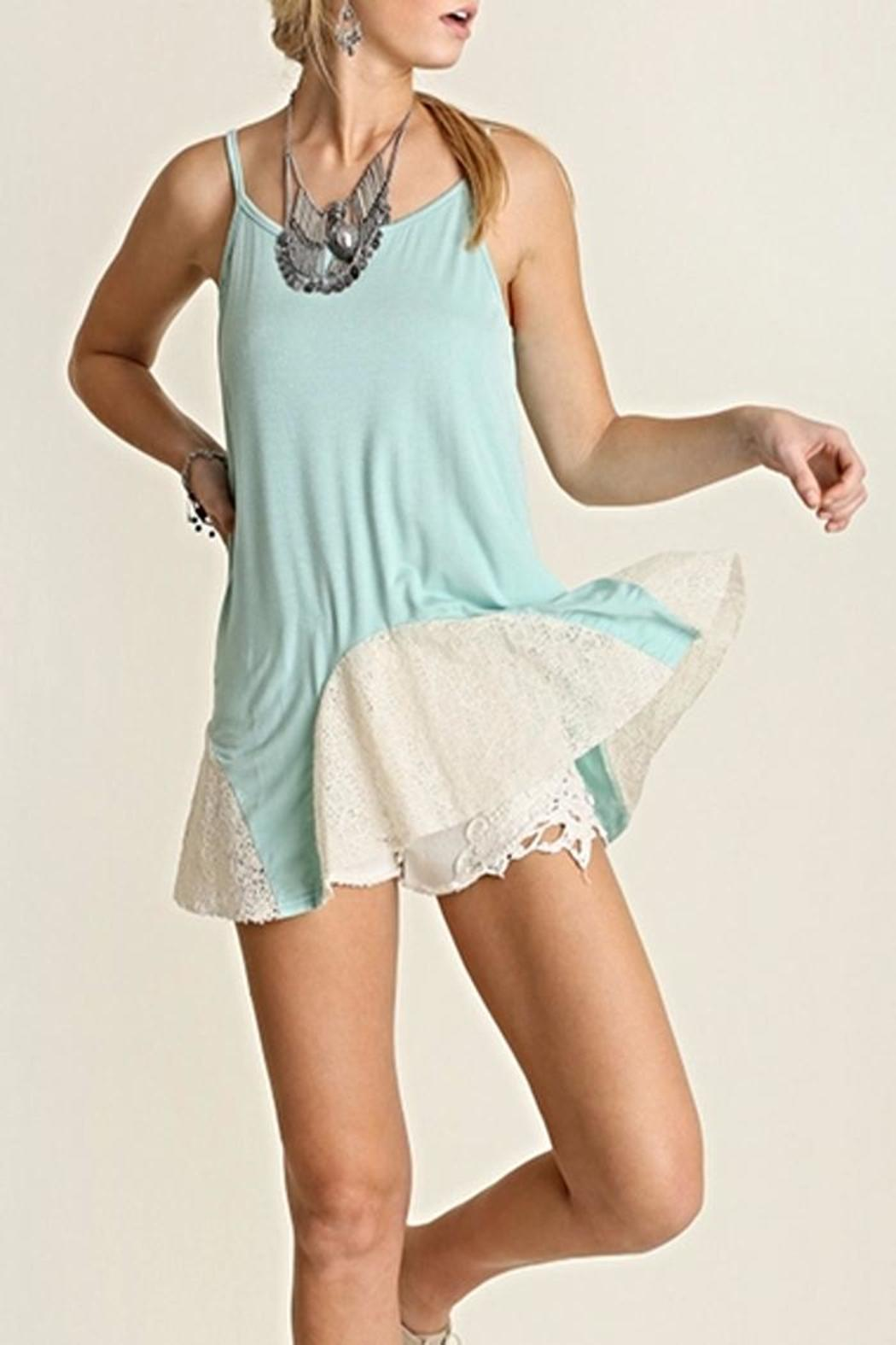 Umgee USA Mint Lace Tank - Main Image