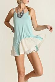 Umgee USA Mint Lace Tank - Front cropped