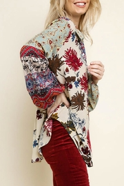 Umgee Multi-Floral Button-Up Top - Side cropped