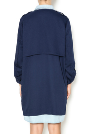 Umgee USA Navy Trench - Back cropped