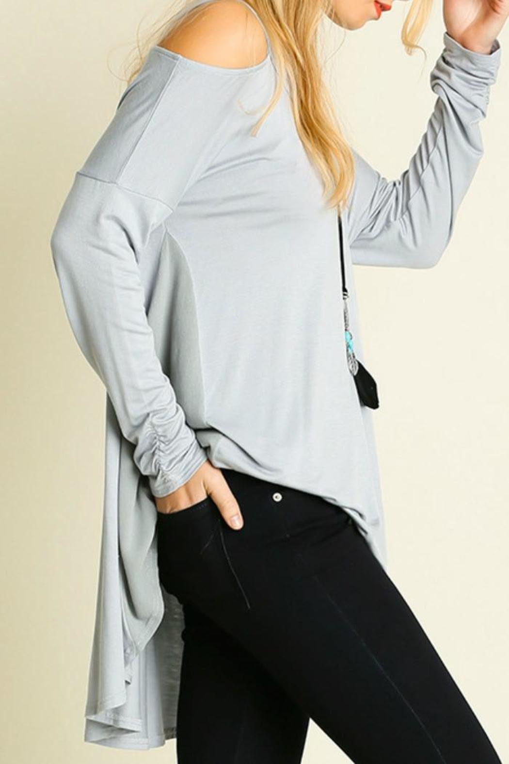 b90a5f4f0588a2 Umgee USA Peek-a-Boo Shoulder Top from Franklin by Adalees — Shoptiques