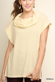 Umgee S/s Cowl-Neck Sweater - Product Mini Image