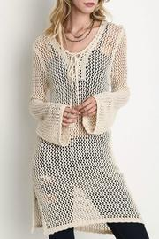 Umgee USA Sheer Crochet Tunic - Product Mini Image