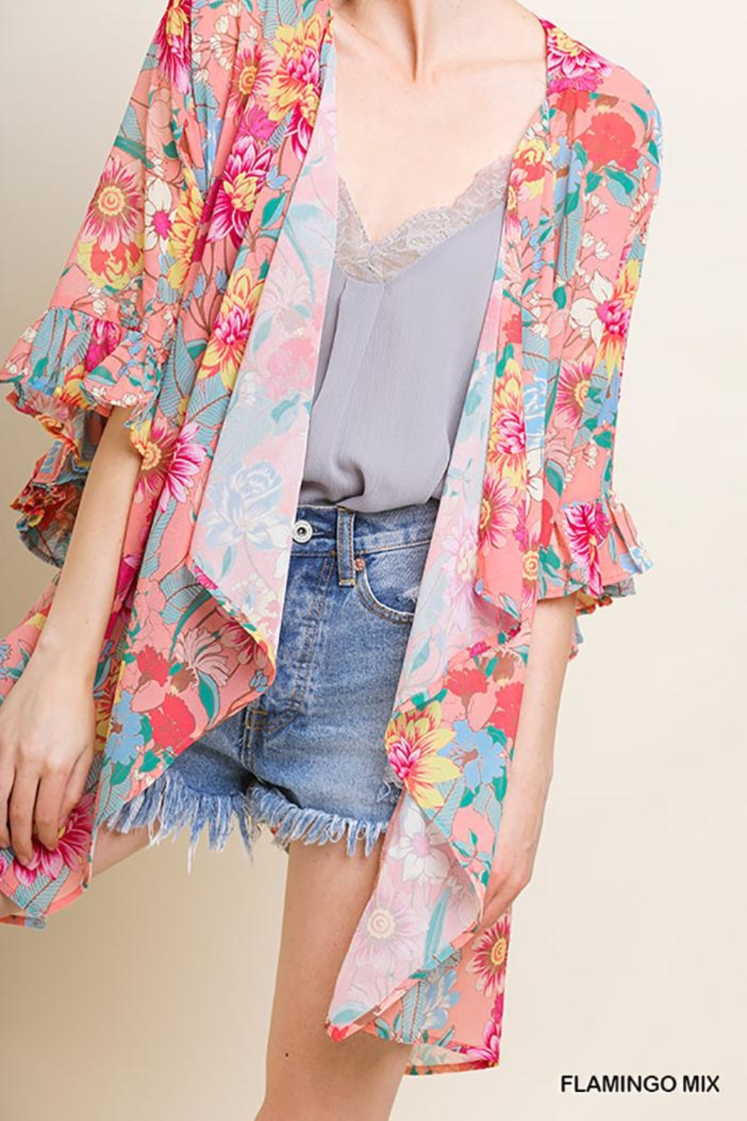 41820f419ee9 Umgee Sheer Floral Kimono from New Jersey by Making Waves — Shoptiques