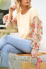 Umgee Sheer Floral Top - Product Mini Image