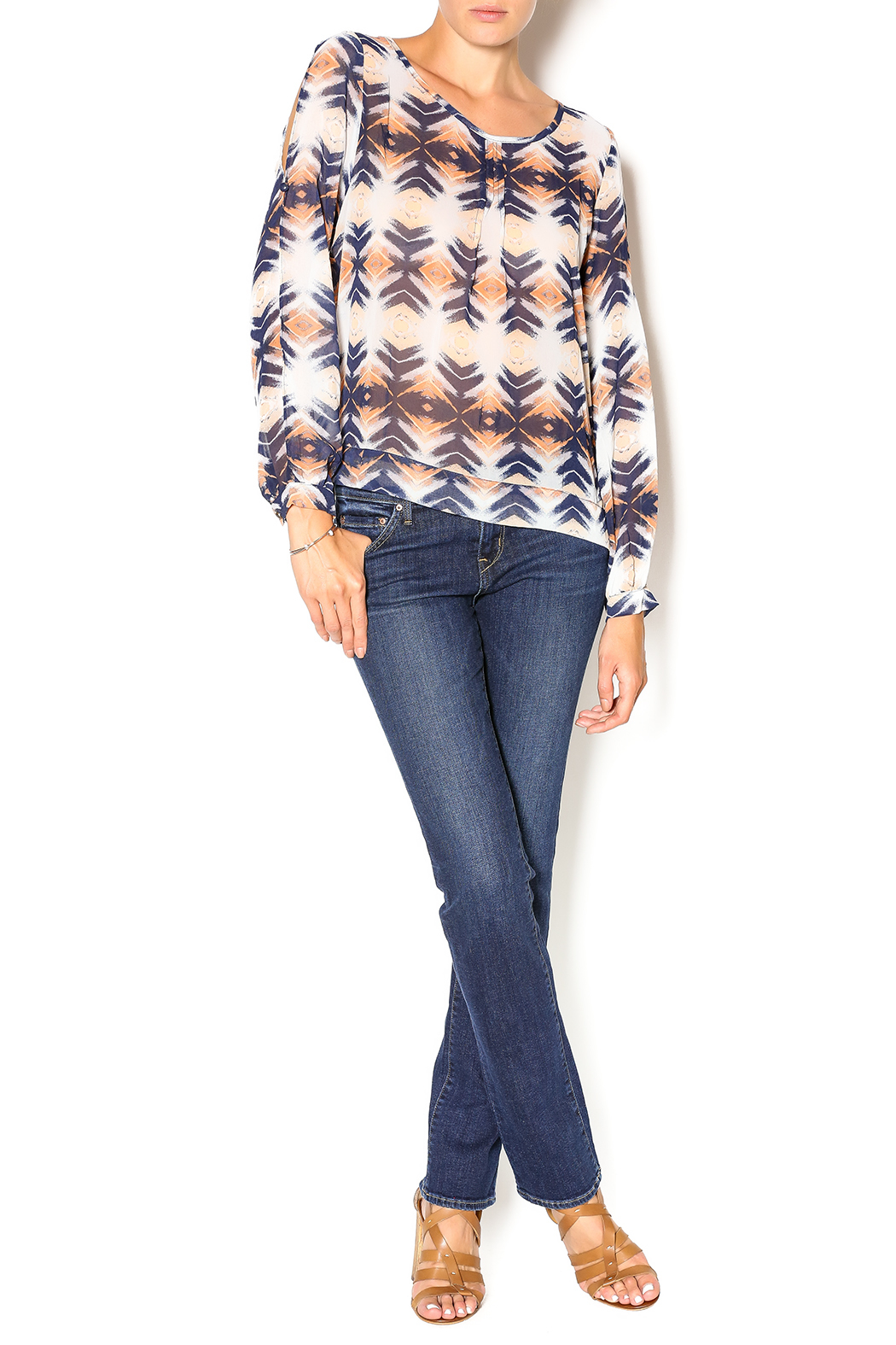 Umgee USA Sierra Nevada Blouse - Front Full Image