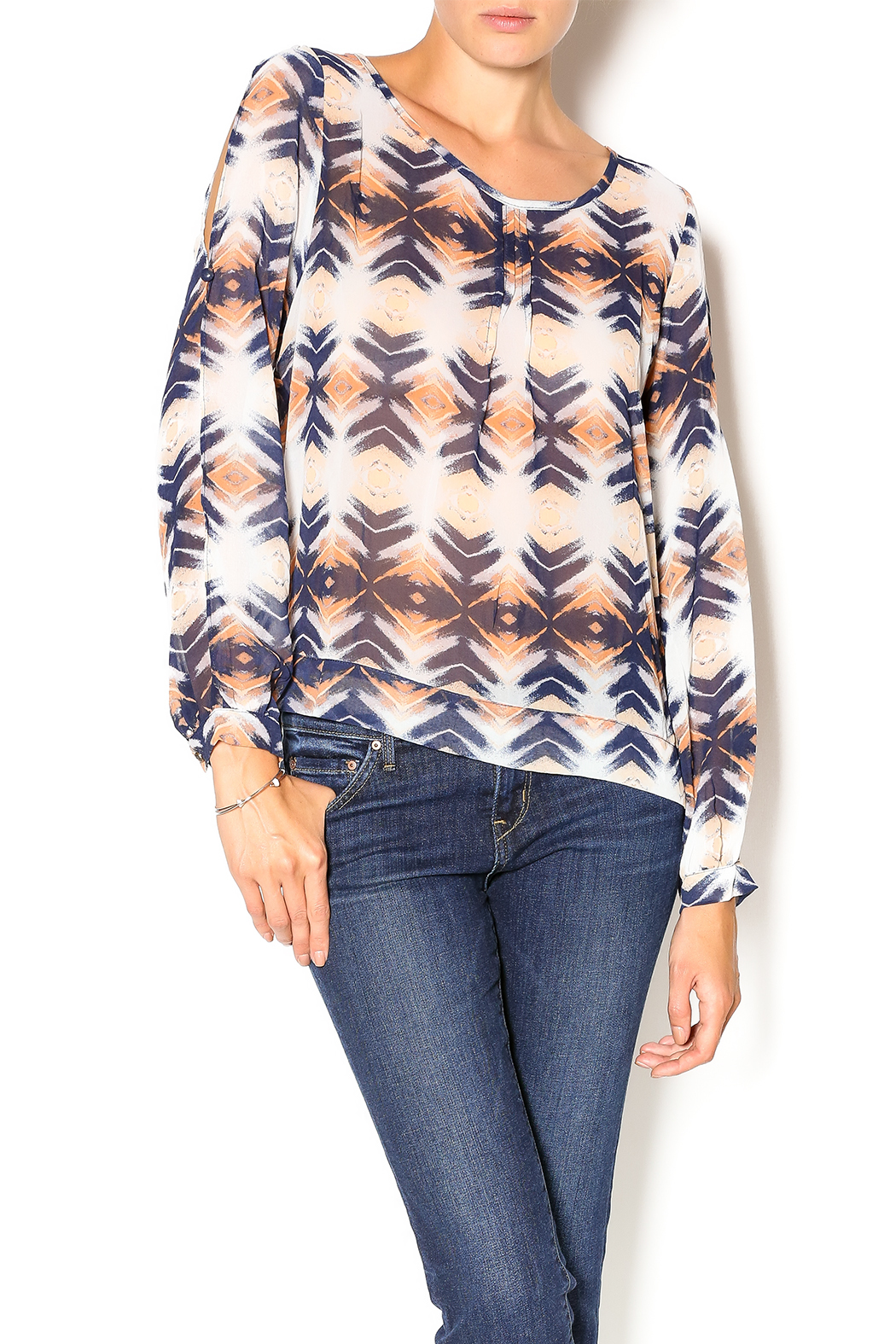 Umgee USA Sierra Nevada Blouse - Front Cropped Image