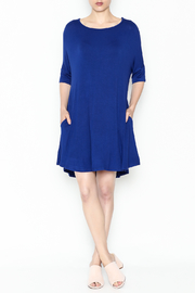 Umgee USA Royal Blue Tee Dress - Side cropped